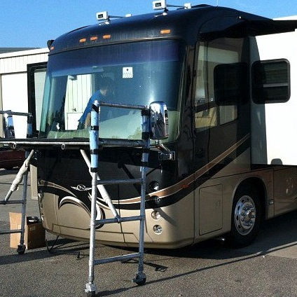 rv front windshield replacement